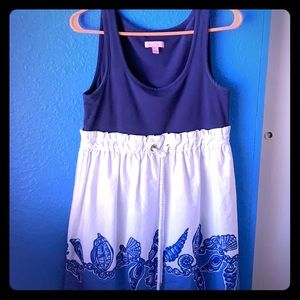 cute blue and white Lilly pulitzer babydoll dress